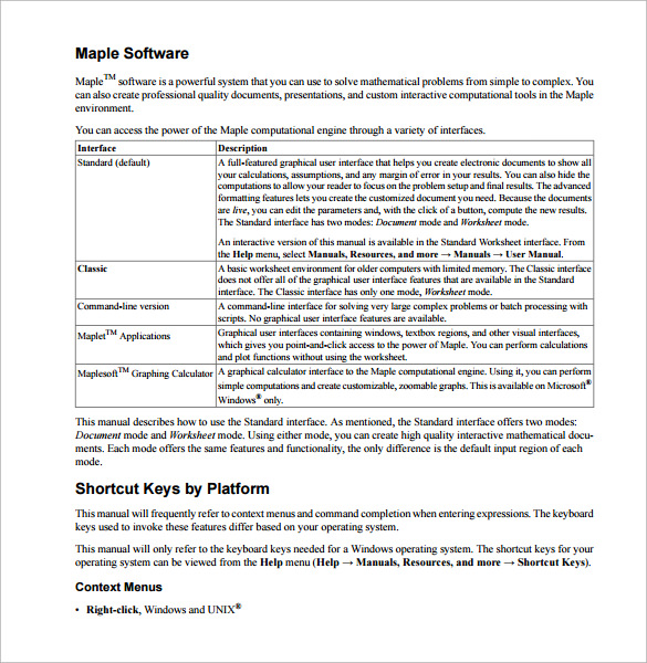 create user guide in word
